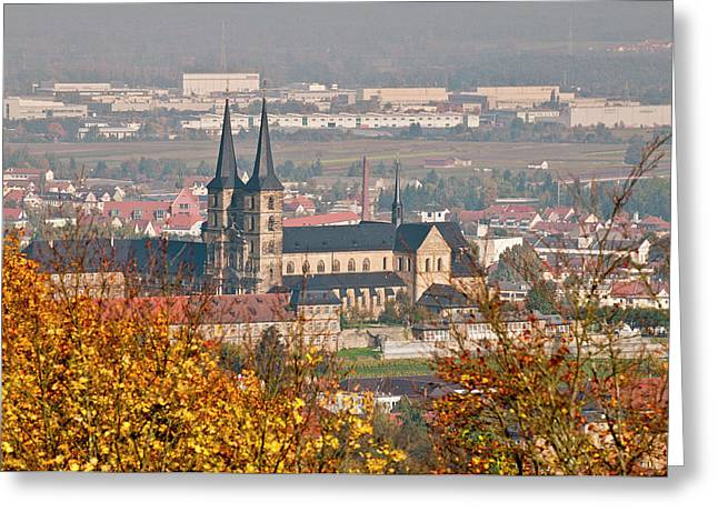 Skyline Of Bamberg, Germany Greeting Card by Michael Defreitas