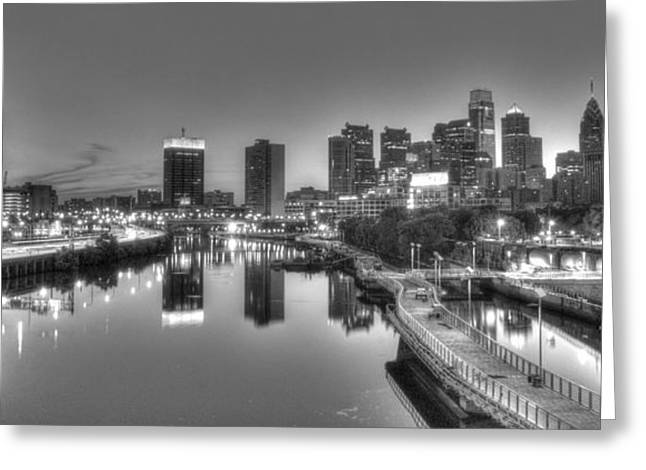 Williams Dam Greeting Cards - Skyline Reflections Greeting Card by Mark Ayzenberg