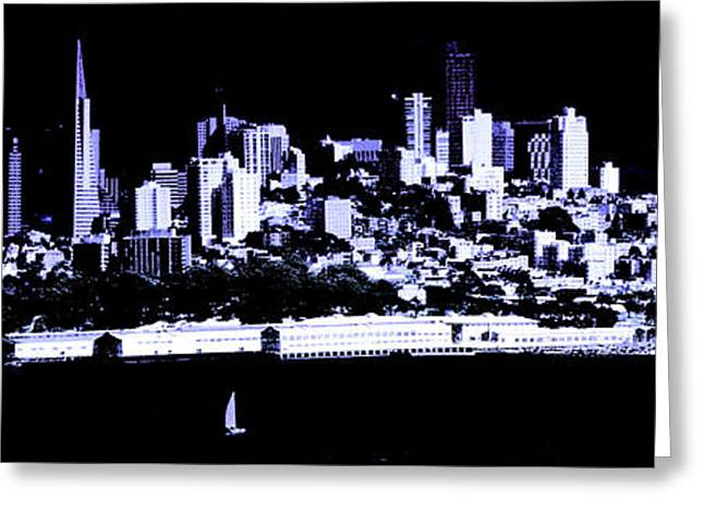 Shower Curtain Greeting Cards - Skyline San Francisco Greeting Card by  ILONA ANITA TIGGES - GOETZE  ART and Photography