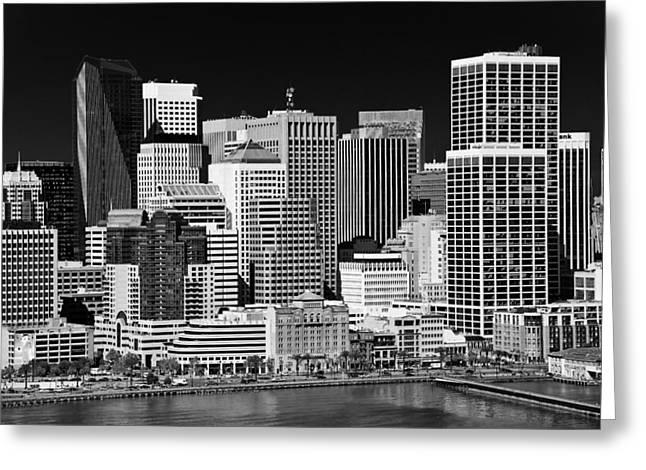 Bay Bridge Greeting Cards - Skyline San Francisco Greeting Card by Ralf Kaiser