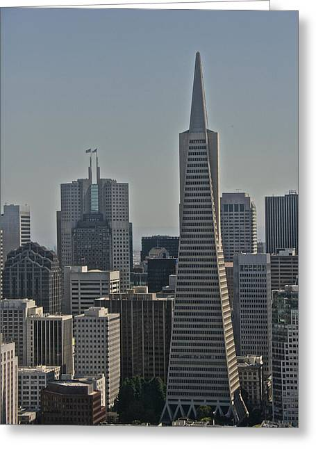 Bookstore Greeting Cards - Skyline San Francisco Greeting Card by Steven Lapkin