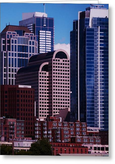 Seattle Skyline Greeting Cards Greeting Cards - Skyline Seattle 1 Greeting Card by Marcus Dagan