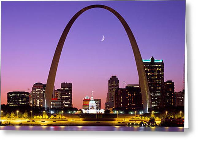20th Greeting Cards - Skyline, St. Louis, Mo, Usa Greeting Card by Panoramic Images