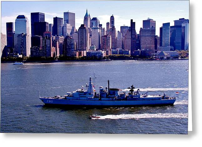 Manhatten Photographs Greeting Cards - Skyline Steaming Greeting Card by Benjamin Yeager
