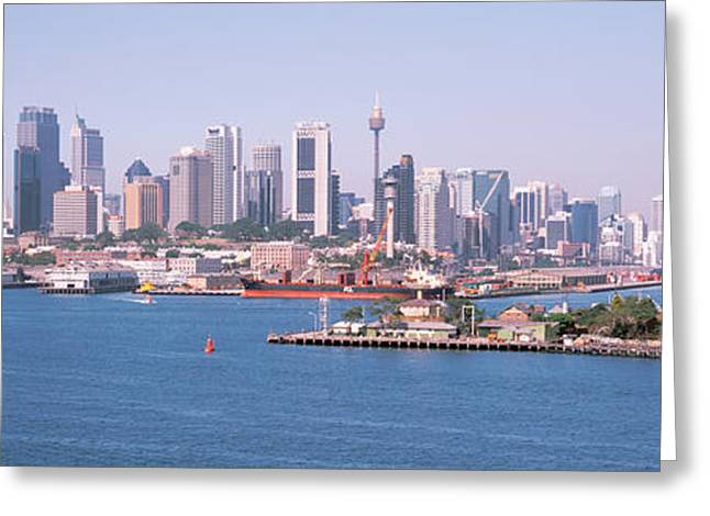 City Buildings Greeting Cards - Skyline Sydney Australia Greeting Card by Panoramic Images