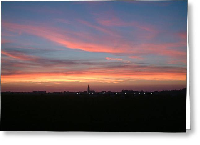 Natuur Greeting Cards - Skyline Greeting Card by Ton Bocxe