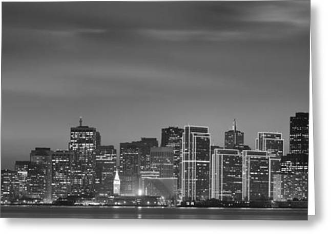 Treasure Island Greeting Cards - Skyline Viewed From Treasure Island Greeting Card by Panoramic Images