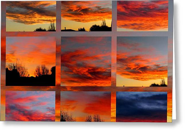 Joyce Woodhouse Greeting Cards - Skys over Christchurch  Greeting Card by Joyce Woodhouse