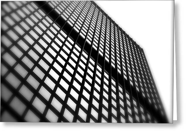 Office Cubicle Greeting Cards - Skyscraper Facade Greeting Card by Valentino Visentini