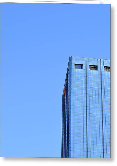 Architectural Photography Greeting Cards - Skyscraper Photography - Blue On Blue - By Sharon Cummings Greeting Card by Sharon Cummings
