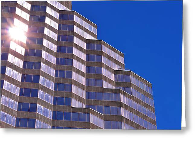 Architectural Photography Greeting Cards - Skyscraper Photography - Downtown - By Sharon Cummings Greeting Card by Sharon Cummings