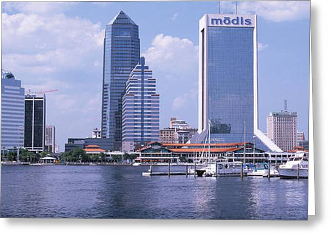 Jacksonville Greeting Cards - Skyscrapers At The Waterfront, Main Greeting Card by Panoramic Images