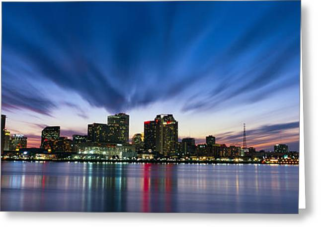 Louisiana Greeting Cards - Skyscrapers At The Waterfront, New Greeting Card by Panoramic Images