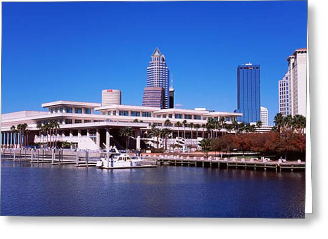 Convention Greeting Cards - Skyscrapers At The Waterfront, Tampa Greeting Card by Panoramic Images