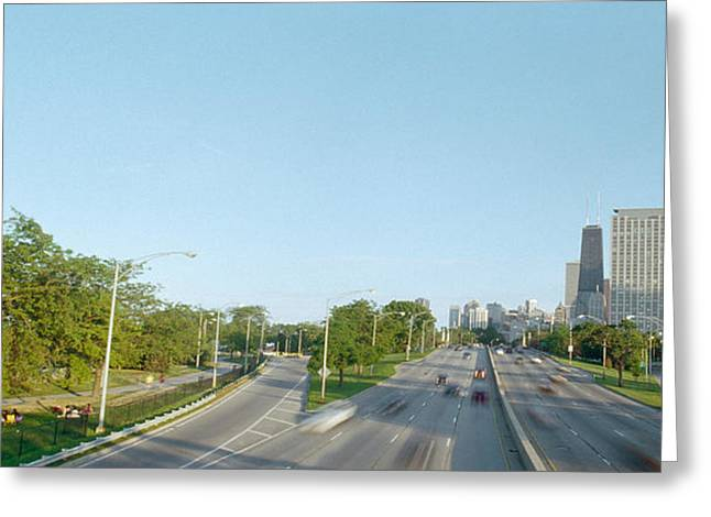 Lake Shore Drive Greeting Cards - Skyscrapers In A City, Lake Shore Greeting Card by Panoramic Images