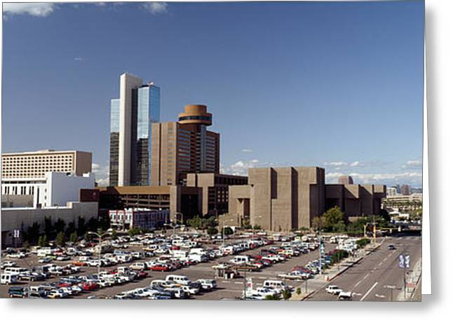 Phoenix Architecture Greeting Cards - Skyscrapers In A City, Phoenix Greeting Card by Panoramic Images