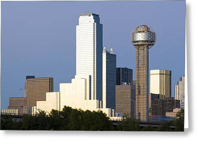 Observation Greeting Cards - Skyscrapers In A City, Reunion Tower Greeting Card by Panoramic Images