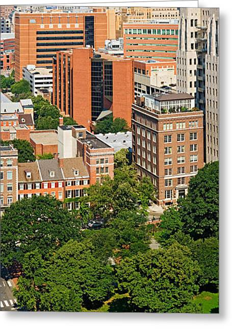 Washington Square Park Greeting Cards - Skyscrapers In A City, Washington Greeting Card by Panoramic Images
