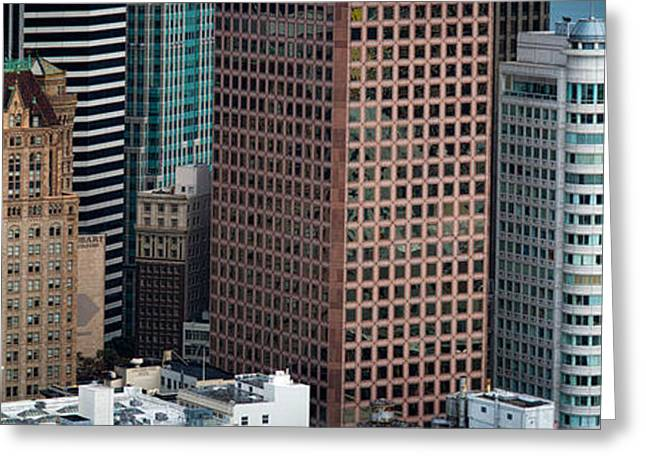 Financial District San Francisco Greeting Cards - Skyscrapers In The Financial District Greeting Card by Panoramic Images