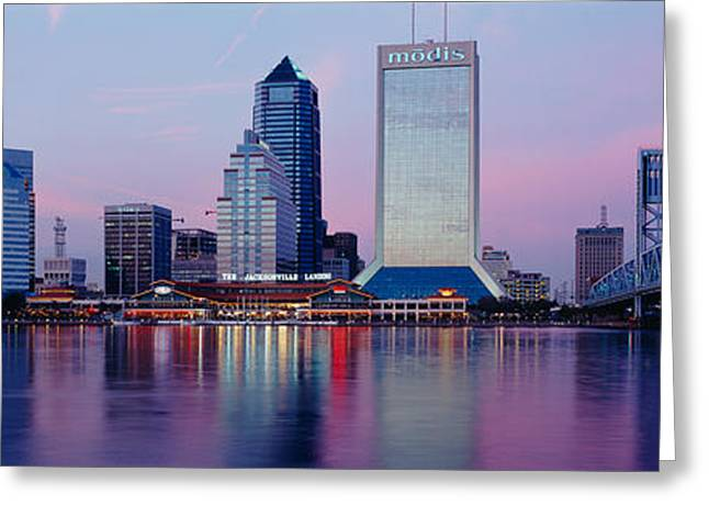 Main Street Greeting Cards - Skyscrapers On The Waterfront, St Greeting Card by Panoramic Images