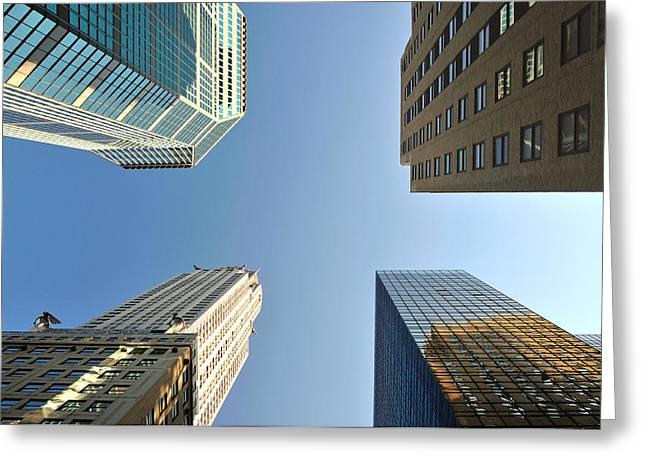 Paul Van Baardwijk Greeting Cards - Skyscrapers Greeting Card by Paul Van Baardwijk