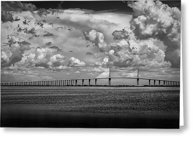 Skyway Clouds Greeting Card by Marvin Spates