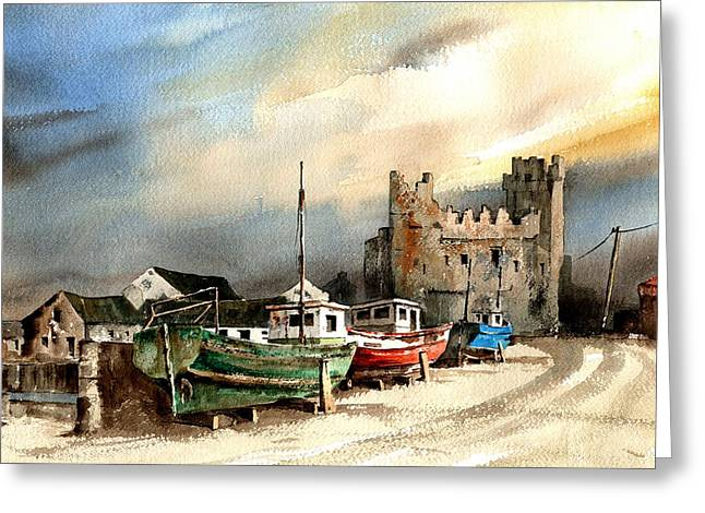 Tour Ireland Greeting Cards - WEXFORD  Slade Castle Greeting Card by Val Byrne