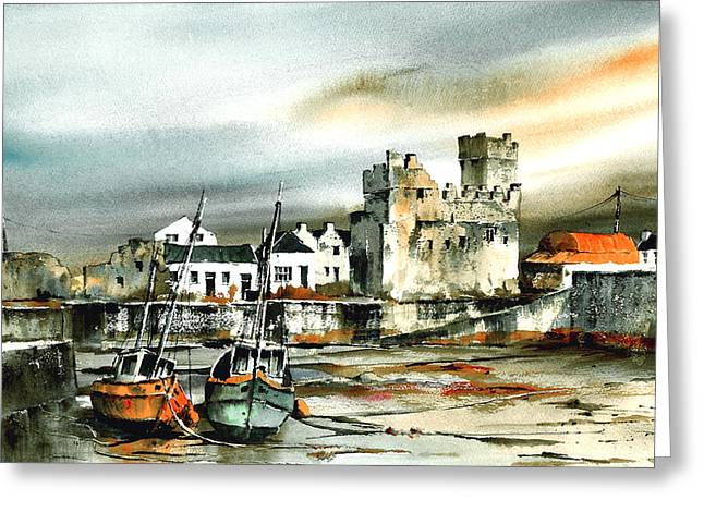 Tour Ireland Greeting Cards - Slade Harbour Wexford Greeting Card by Val Byrne