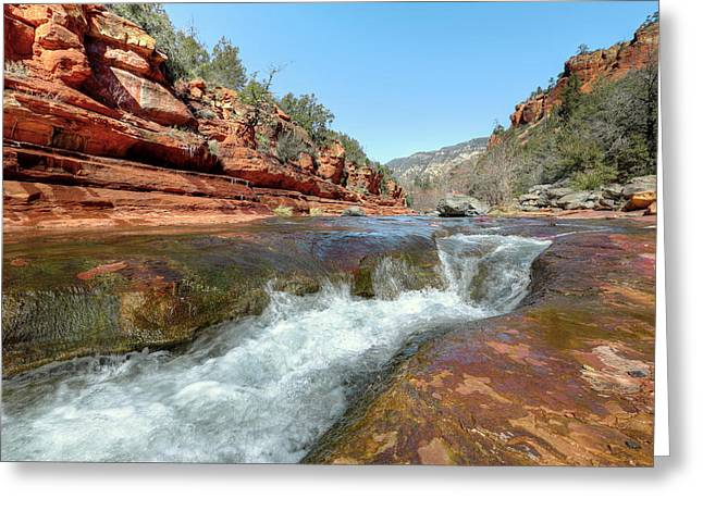 Jogging Greeting Cards - Slade Rock Sedona AZ Greeting Card by James Steele