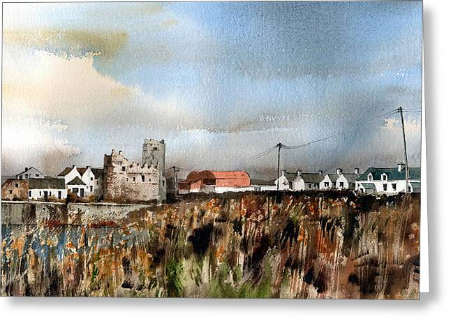 Tour Ireland Greeting Cards - WEXFORD  Slade Village  Greeting Card by Val Byrne