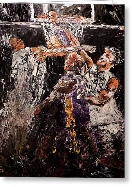 Kevin Garnett Art Greeting Cards - Slam Dunk Greeting Card by Mark Moore