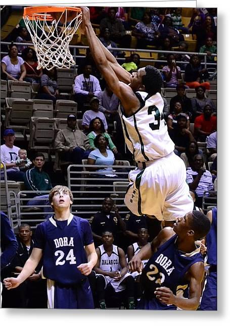 Basketballs Greeting Cards - Slamm Greeting Card by Jeffery Davis
