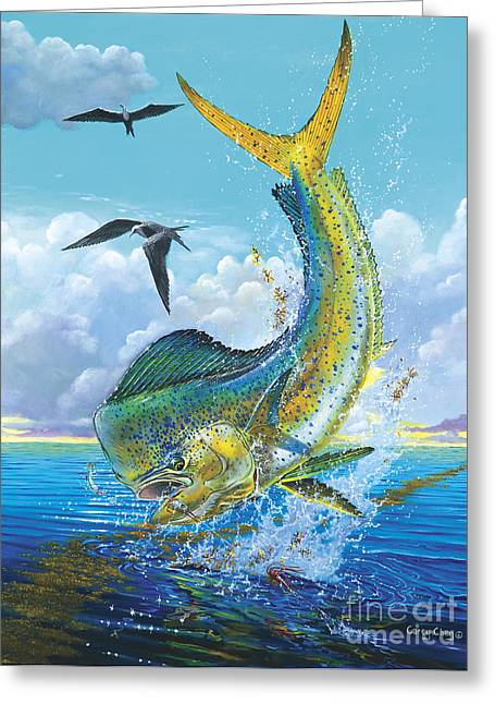 Gamefish Greeting Cards - Slammer Off0017 Greeting Card by Carey Chen