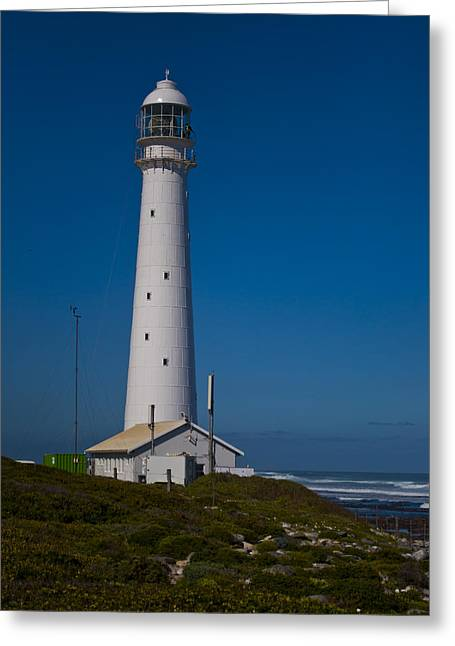 Tom Hudson Greeting Cards - Slangkop Lighthouse Greeting Card by Tom Hudson