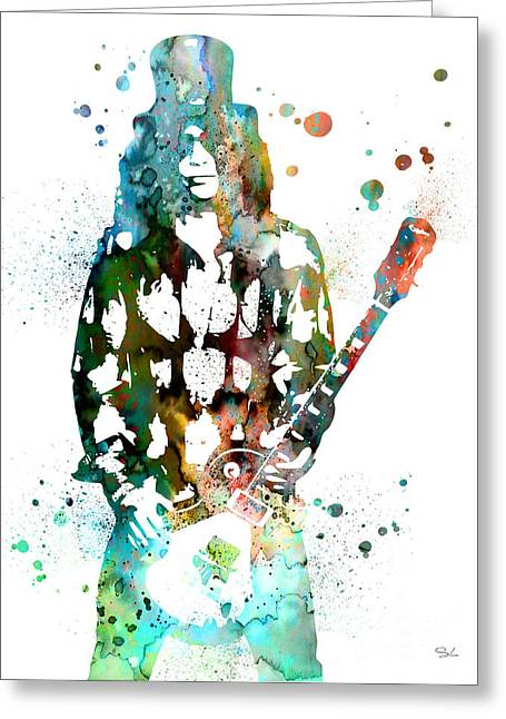 Slash Greeting Cards - Slash 2 Greeting Card by Luke and Slavi