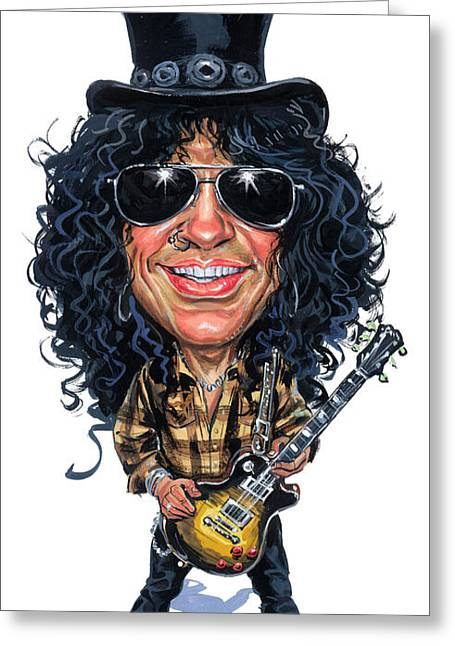 Slash Greeting Cards - Slash Greeting Card by Art