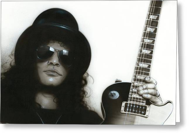 Slash Greeting Cards - Slash Greeting Card by Christian Chapman Art