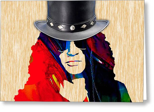 Guitar Player Mixed Media Greeting Cards - Slash Collection Greeting Card by Marvin Blaine