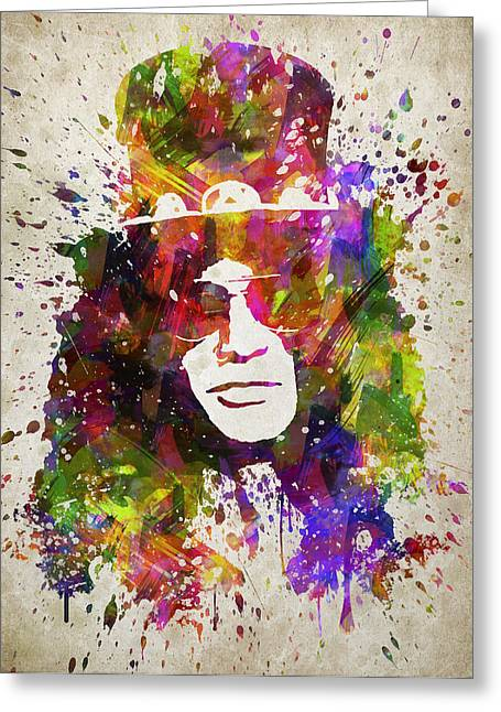 Portrait Digital Greeting Cards - Slash in Color Greeting Card by Aged Pixel