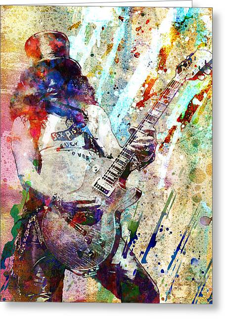Slash Greeting Cards - Slash Original  Greeting Card by Ryan RockChromatic