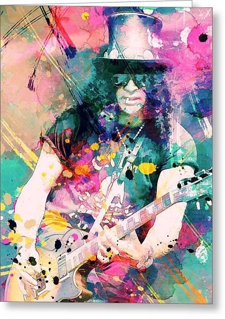 Slash Greeting Card by Rosalina Atanasova