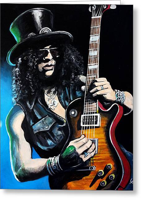 Slash Greeting Cards - Slash Greeting Card by Tom Carlton