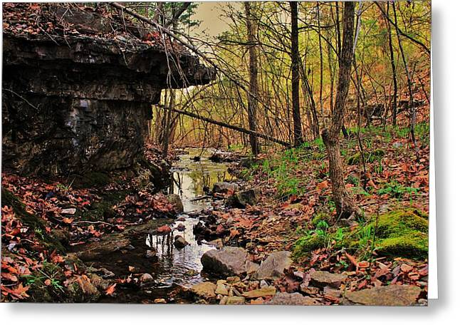 Slate Bottom Creek Greeting Card by Benjamin Yeager
