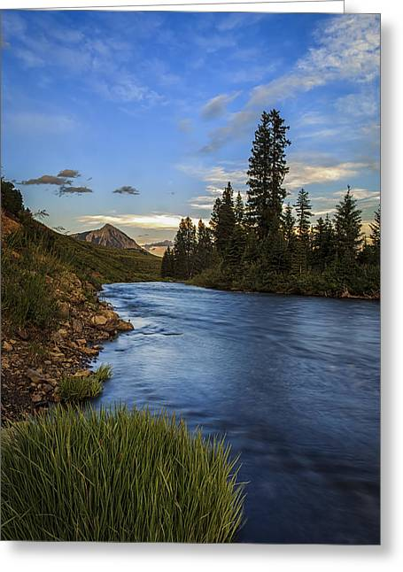 Mountains Greeting Cards - Slate River Greeting Card by Jennifer Grover