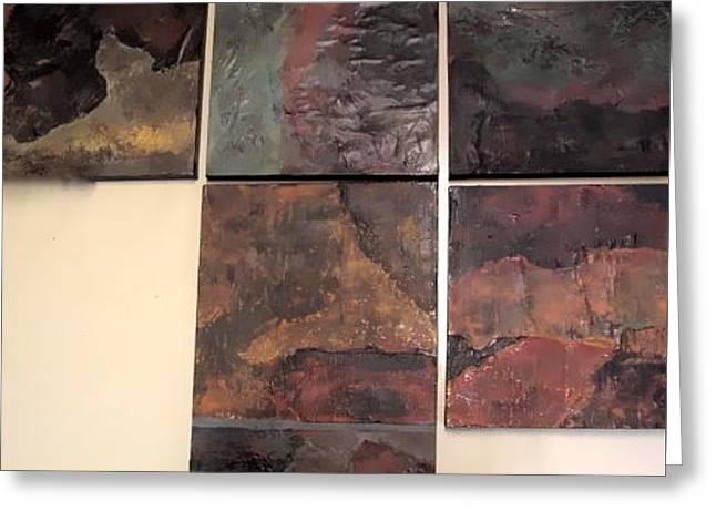 Tile Grouping Greeting Card by Jim Ellis