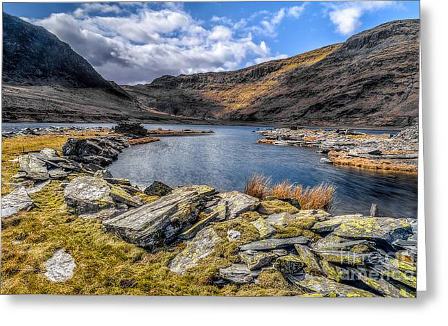 Slate Valley Greeting Card by Adrian Evans