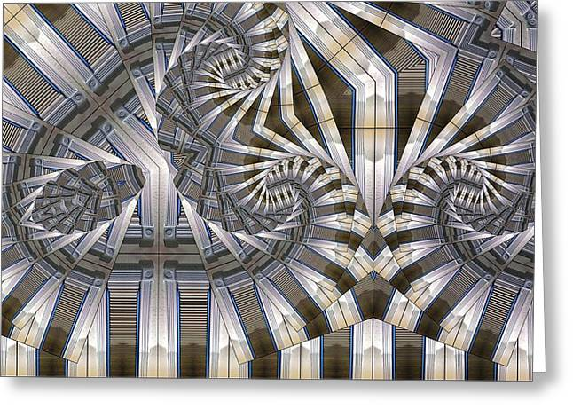 Distortion Greeting Cards - Slatted Spirals Greeting Card by Ron Bissett