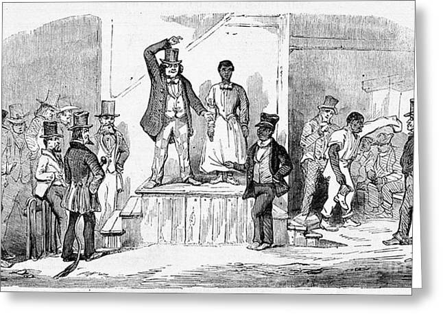 Slaves Greeting Cards - Slave Auction, Richmond, Virginia, 1857 Greeting Card by Wellcome Images
