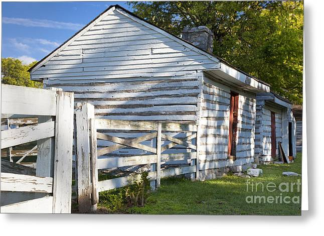 Franklin Farm Greeting Cards - Slave Huts on Southern Farm Greeting Card by Brian Jannsen
