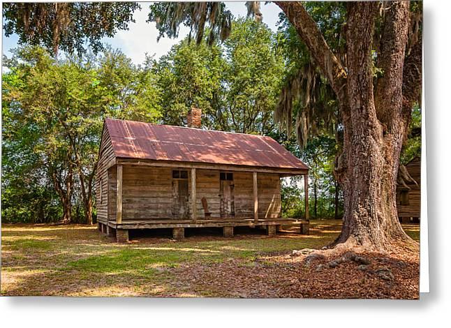 Evergreen Plantation Photographs Greeting Cards - Slave Quarters 3  Greeting Card by Steve Harrington